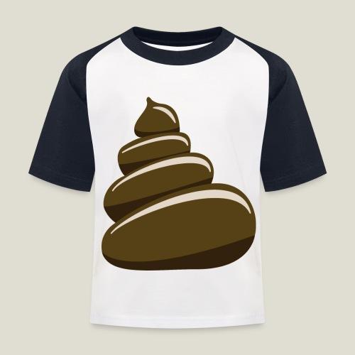 Bajskorv, Turd, Crap, Poop, Shit, Shite - Baseboll-T-shirt barn