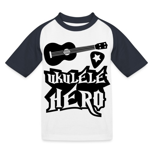 Ukelele Hero - Kids' Baseball T-Shirt