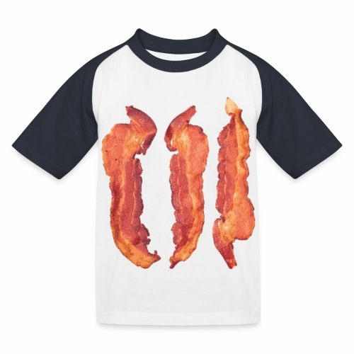 Bacon Strips - Maglietta da baseball per bambini