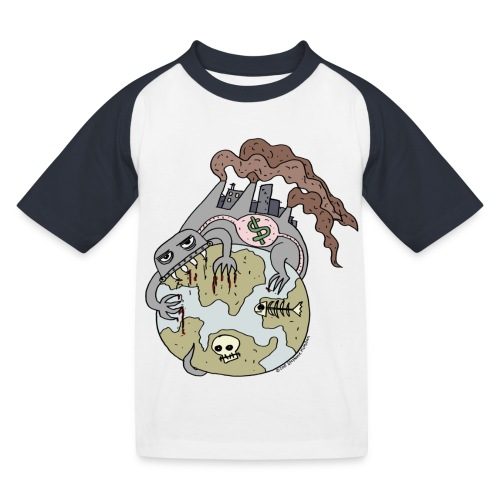 Consuming Ourselves to Death - Kids' Baseball T-Shirt