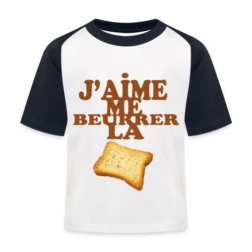 J'aime me beurrer la biscotte - T-shirt baseball Enfant