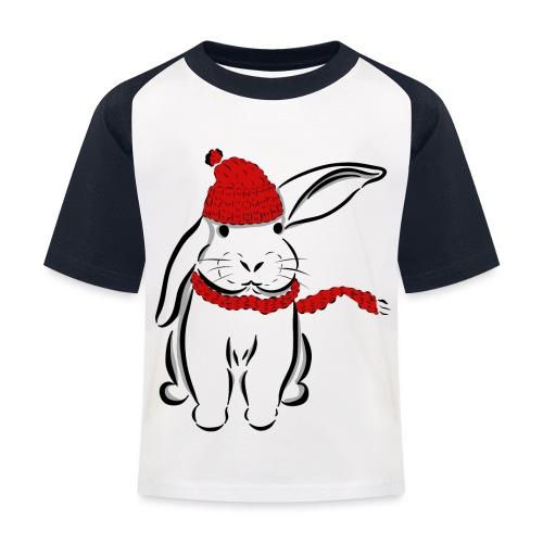 Kaninchen Hase Mütze Schal Schlappohr Schneehase - Kinder Baseball T-Shirt