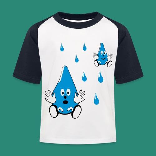 Tropfen - Kinder Baseball T-Shirt