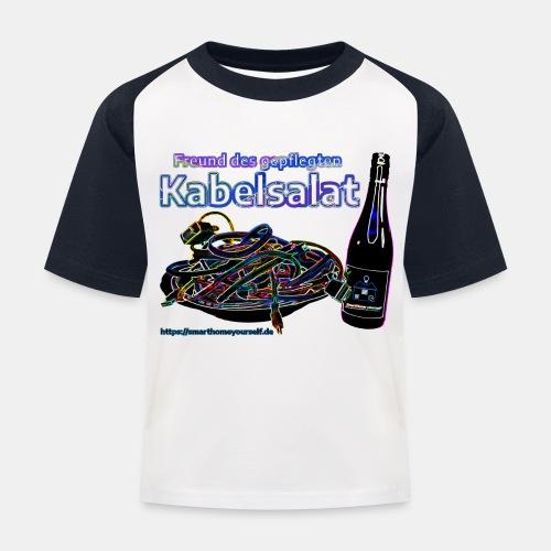 Freund des gepflegten Kabelsalat - Neon - Kinder Baseball T-Shirt