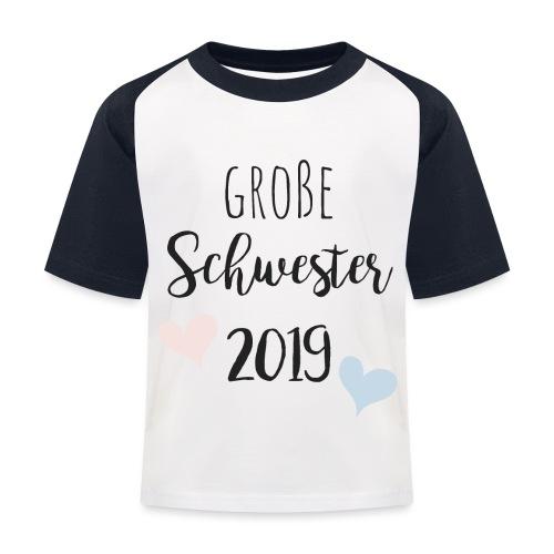 Große Schwester 2019 - Kinder Baseball T-Shirt