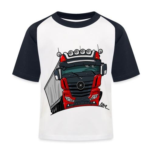 0807 M truck zwart rood - Kinderen baseball T-shirt