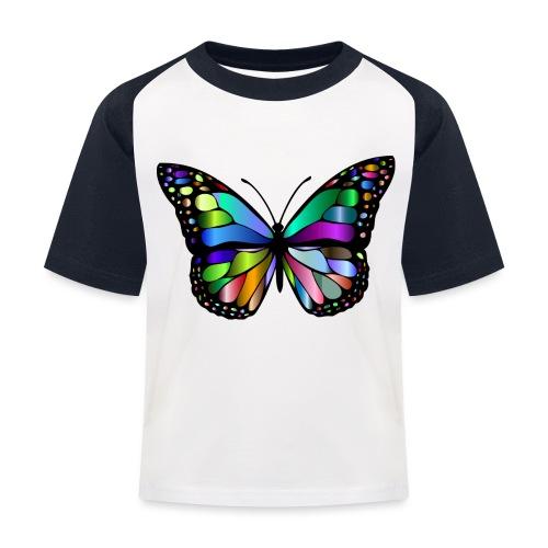 Kolorwy Motyl - Koszulka bejsbolowa dziecięca
