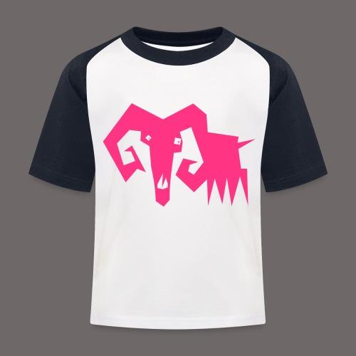 grosse ziege - Kinder Baseball T-Shirt