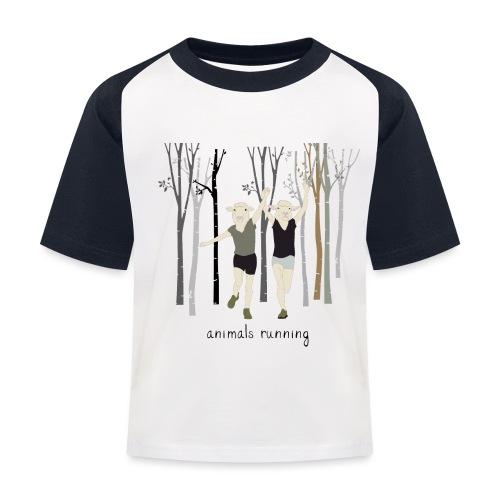 Moutons running - T-shirt baseball Enfant
