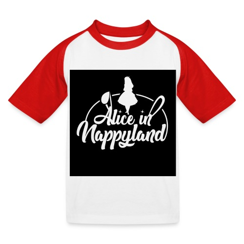 Alice in Nappyland TypographyWhite 1080 - Kids' Baseball T-Shirt