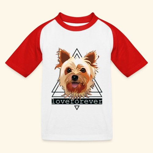 YORKIE LOVE FOREVER - Camiseta béisbol niño