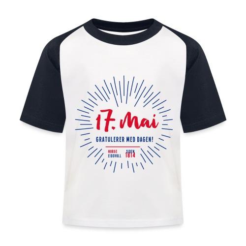 17. mai T-skjorte - Det norske plagg - Baseball-T-skjorte for barn