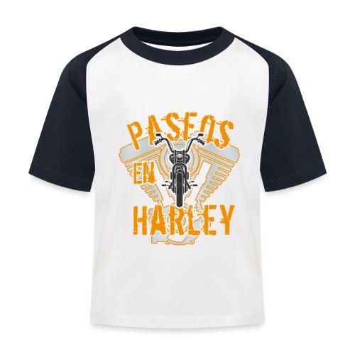 Paseos en H a r l e y - Camiseta béisbol niño