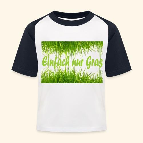 einfach nur gras2 - Kinder Baseball T-Shirt