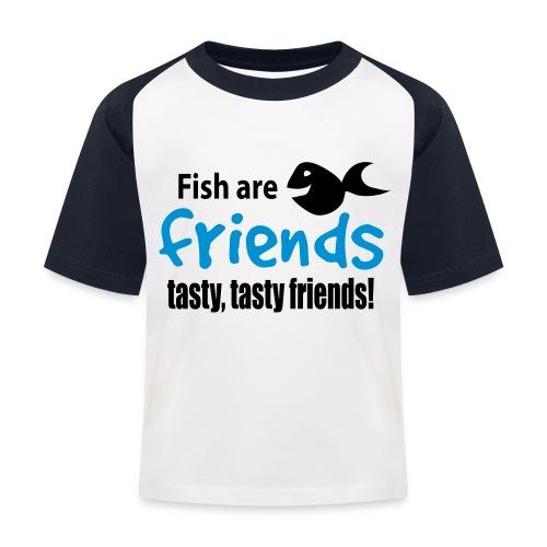 Fisk er venner - Baseball-T-skjorte for barn