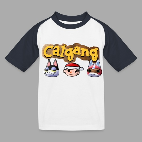 Animal Crossing CatGang - Kinder Baseball T-Shirt