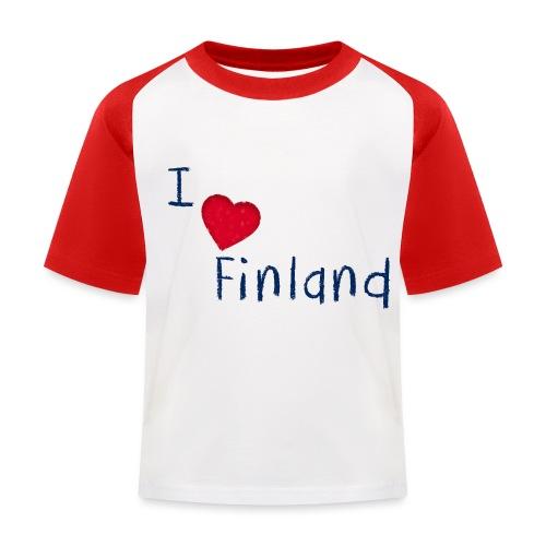 I Love Finland - Lasten pesäpallo  -t-paita