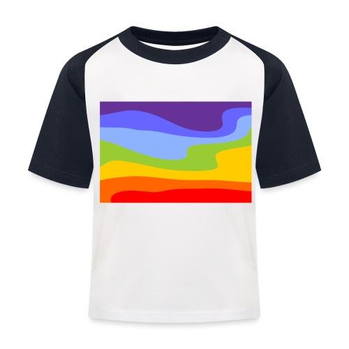 Hintergrund Regenbogen Fluss - Kinder Baseball T-Shirt