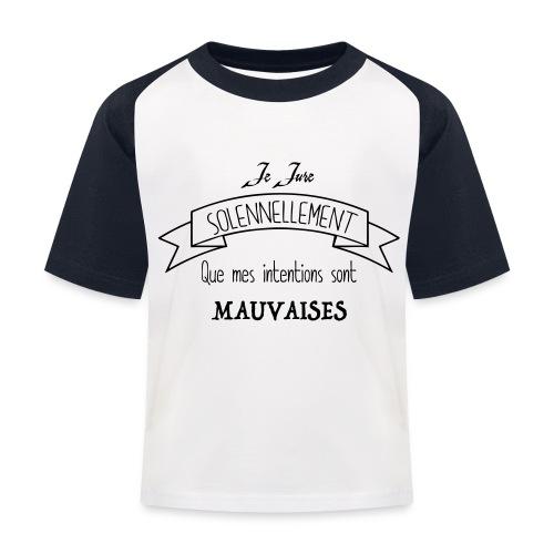 Je jure solennellement - T-shirt baseball Enfant