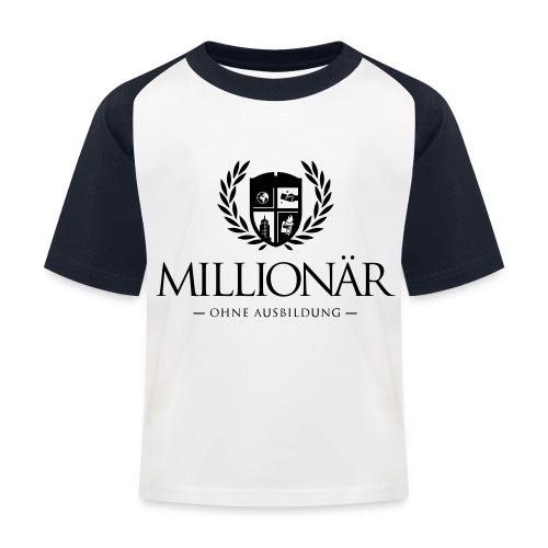Millionär ohne Ausbildung Jacket - Kinder Baseball T-Shirt