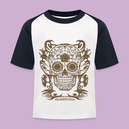 SKULL FLOWERS LEO - Kinder Baseball T-Shirt