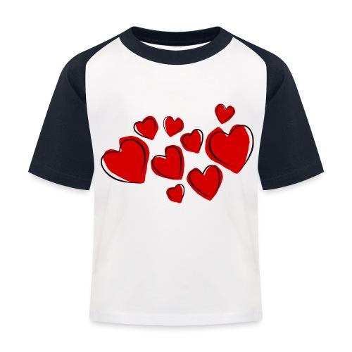 hearts herzen - Kinder Baseball T-Shirt