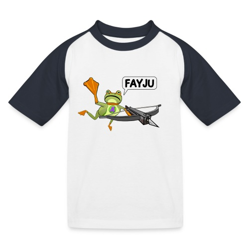 Amazing Frog Crossbow - Kids' Baseball T-Shirt
