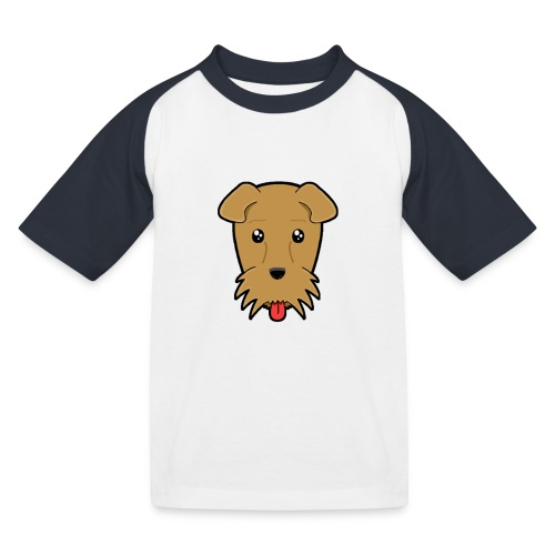 Shari the Airedale Terrier - Kids' Baseball T-Shirt