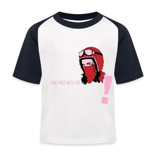 Biker Mum T-Shirt - Kids' Baseball T-Shirt