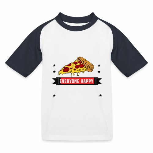 You can't make everyone Happy - You are not Pizza - Kinder Baseball T-Shirt