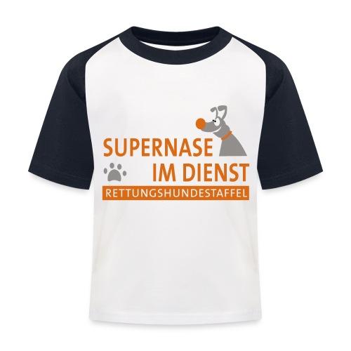 Supernase im Dienst - Kinder Baseball T-Shirt