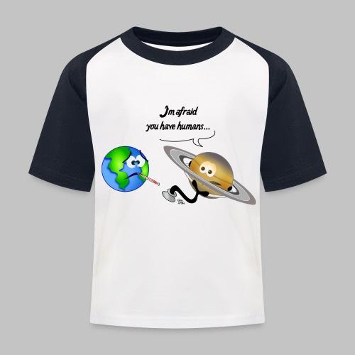 Sick Earth - Kids' Baseball T-Shirt