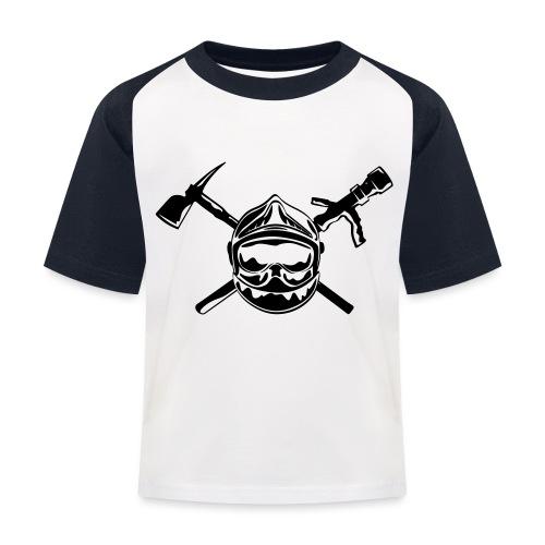 casque_pompier_hache et lance - T-shirt baseball Enfant