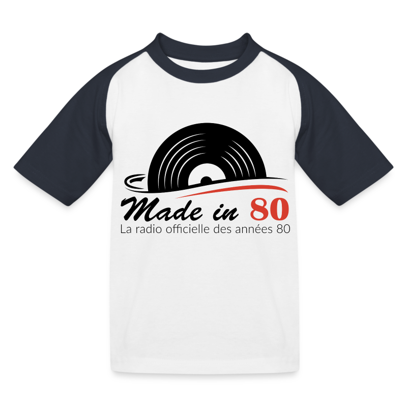 Made in 80 - T-shirt baseball Enfant