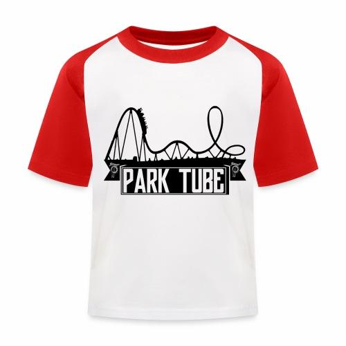 ParkTube Banner mit Achterbahn schwarz - Kinder Baseball T-Shirt