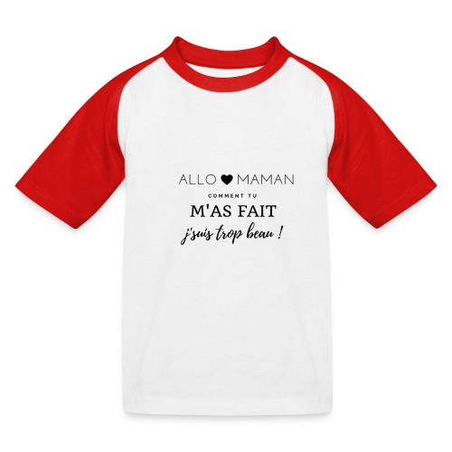 AlloMaman - T-shirt baseball Enfant