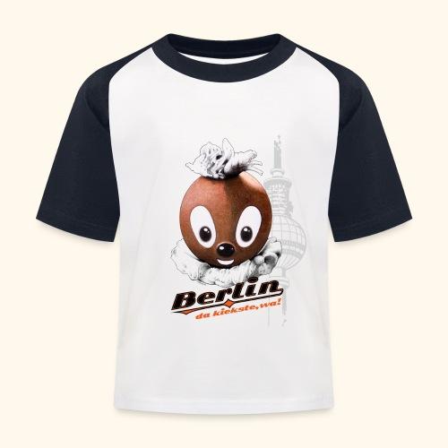 Pittiplatsch 3D Berlin auf hell - Kinder Baseball T-Shirt