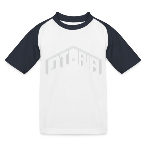 Logo with Slogan - Kids' Baseball T-Shirt