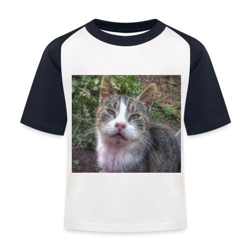 Katze Max - Kinder Baseball T-Shirt