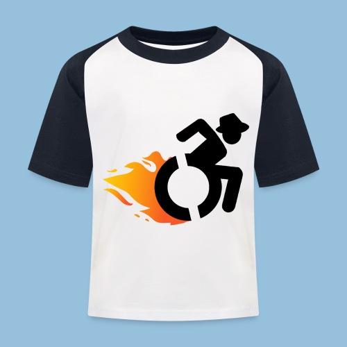 Roller met vlammen 016 - Kinderen baseball T-shirt