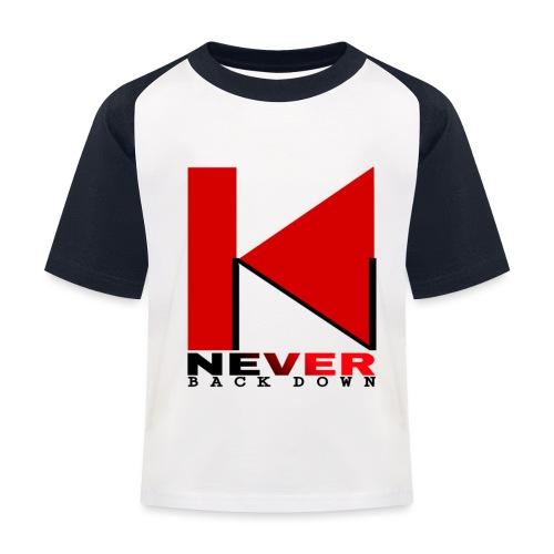 NEVER BACK DOWN - T-shirt baseball Enfant