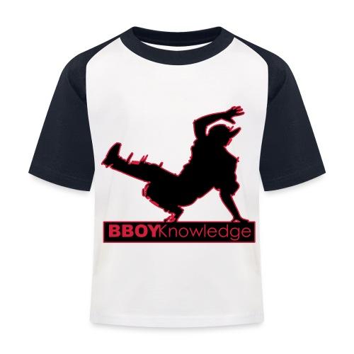 Bboy knowledge Logo Multi color,make your choice - T-shirt baseball Enfant