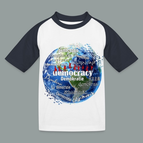 democracy - Kinder Baseball T-Shirt