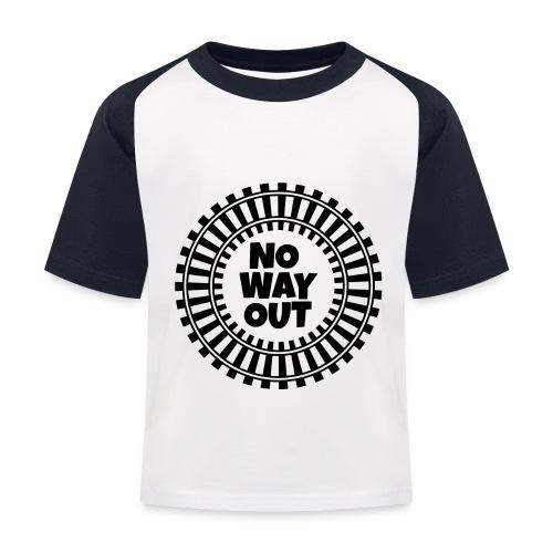 no way out - Camiseta béisbol niño
