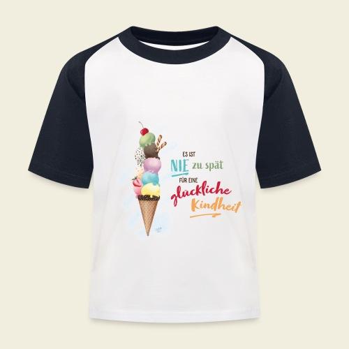 Eis - glückliche Kindheit - Kinder Baseball T-Shirt