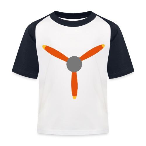 3 blade propeller - Kids' Baseball T-Shirt