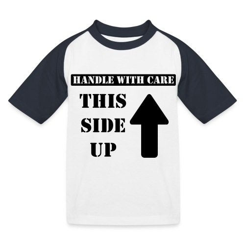 Handle with care / This side up - PrintShirt.at - Kinder Baseball T-Shirt
