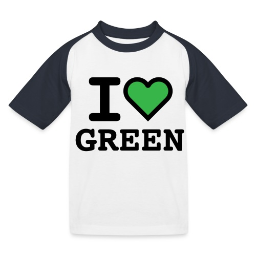 i-love-green-2.png - Maglietta da baseball per bambini