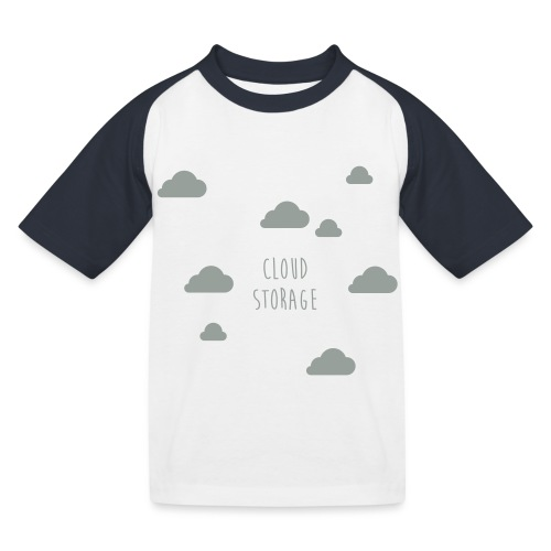 Cloud Storage - Kinder Baseball T-Shirt