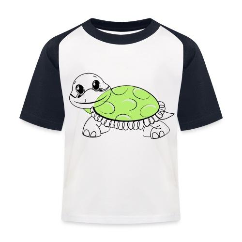 Schildkröte - Kinder Baseball T-Shirt